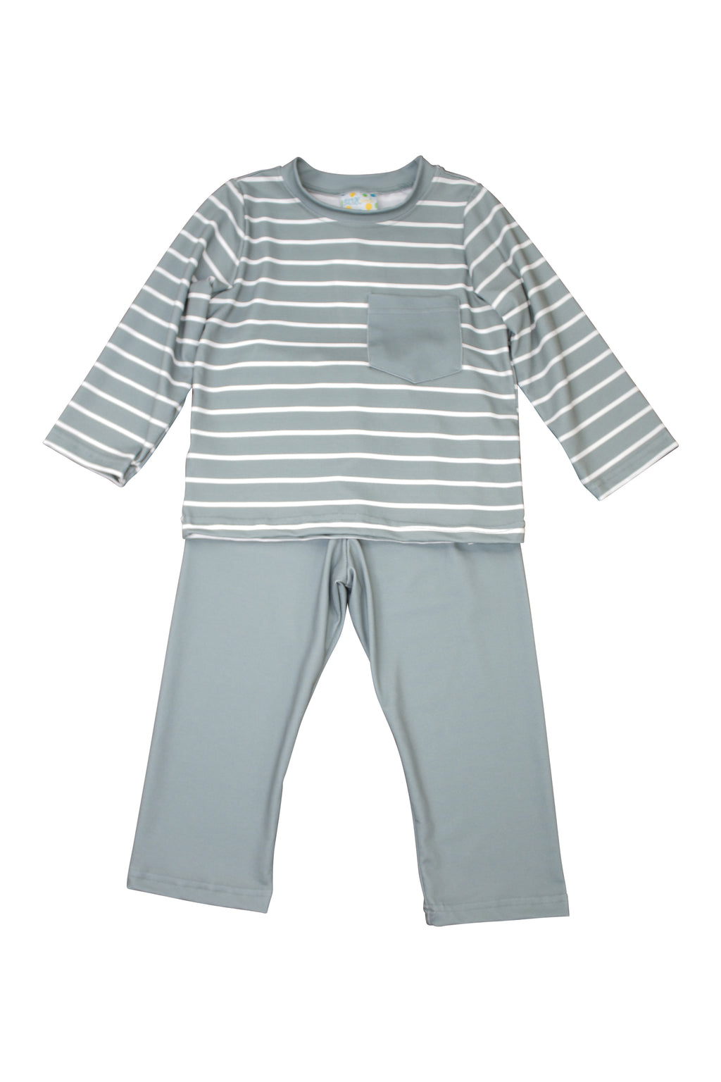 Boys Sage Stripes Pants Set