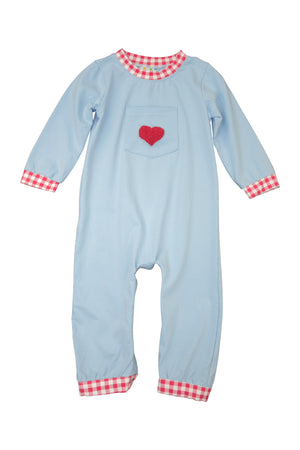 Boys French Knot Heart Romper