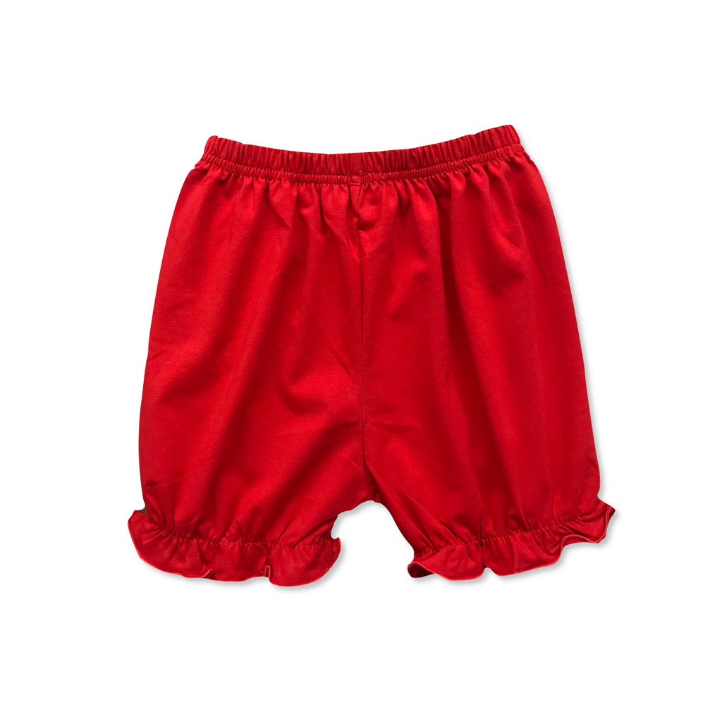 Girls Red Knit Bloomers