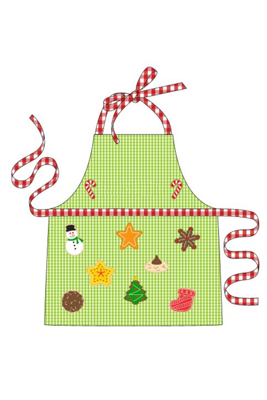 Mommy Green Gingham Baking Christmas Apron