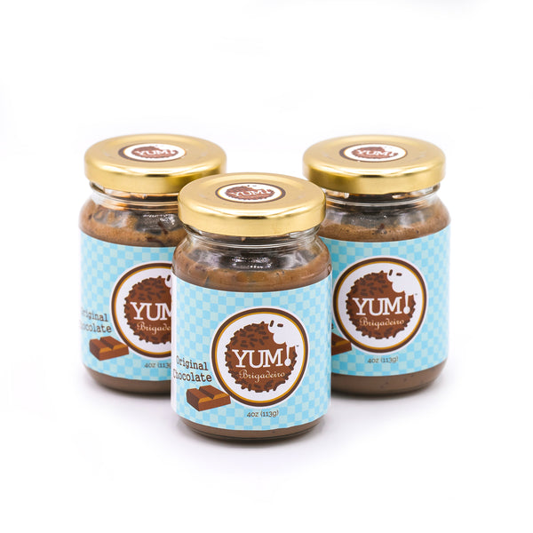 "Three ""Original Chocolate"" Yum Jars"