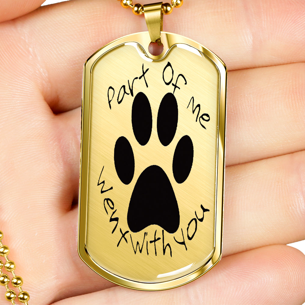 Heart Warming Sentimental Dog Tag Pendant & Chain