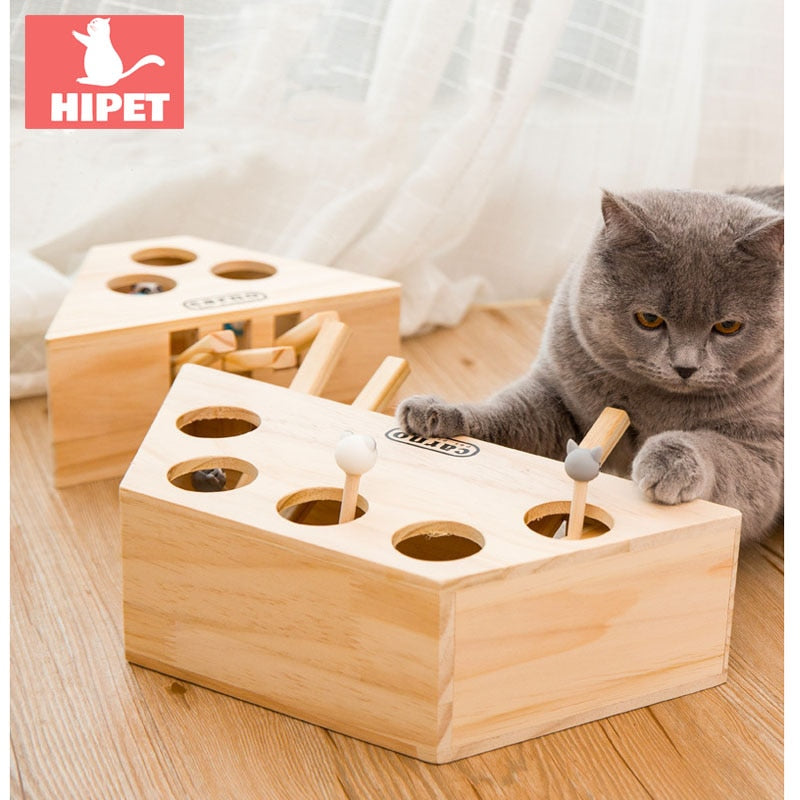 Wooden Interactive Cat Toy - Pet Gear Solutions