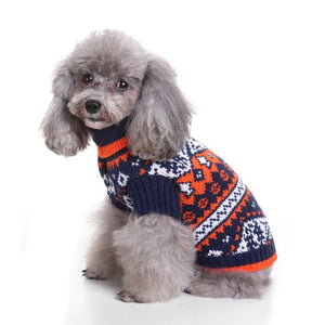 Winter Snowflake Dog Sweater