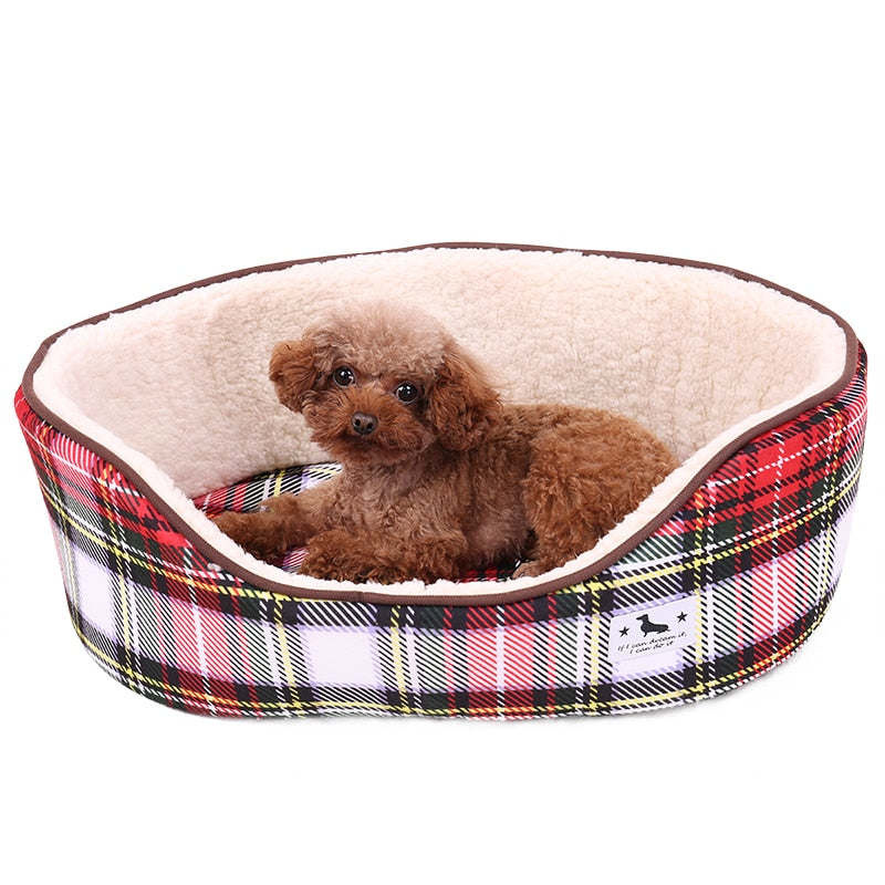 Plaid Dog Bed - Pet Gear Solutions