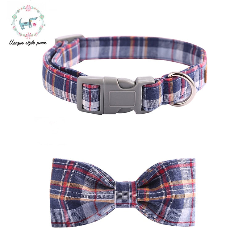 Plaid Bowtie Dog Collar - Pet Gear Solutions