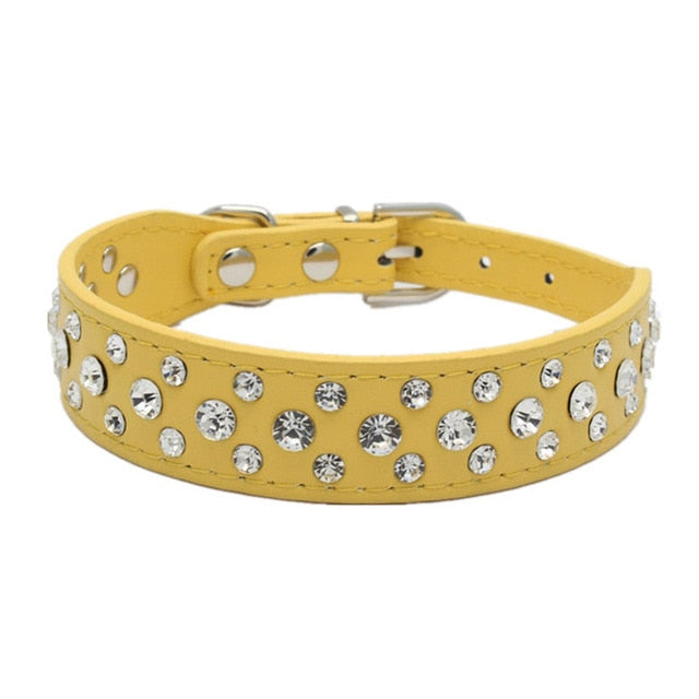Rhinestone Dog Adjustable Collar - Pet Gear Solutions