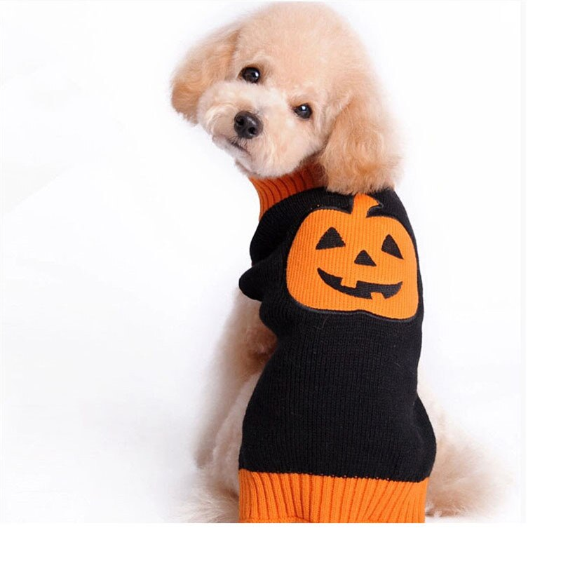 Halloween Black Pumpkin Dog Sweater