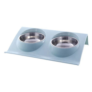 Double Stainless Steel Pet Bowl (Cats or Dogs) - Pet Gear Solutions