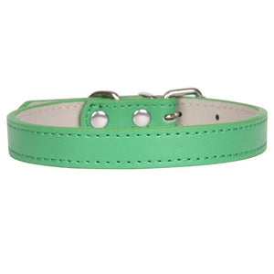 Soft Leather Adjustable Pet Collar - Pet Gear Solutions
