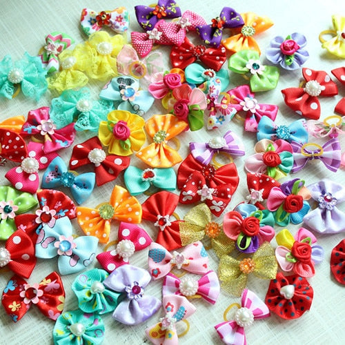 Rhinestone Dog Hair Bows 100 pc - Pet Gear Solutions