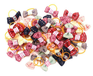 Small Dogs Bows Hair Ties - Pet Gear Solutions