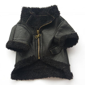 Fur Leather Dog Jacket - Pet Gear Solutions