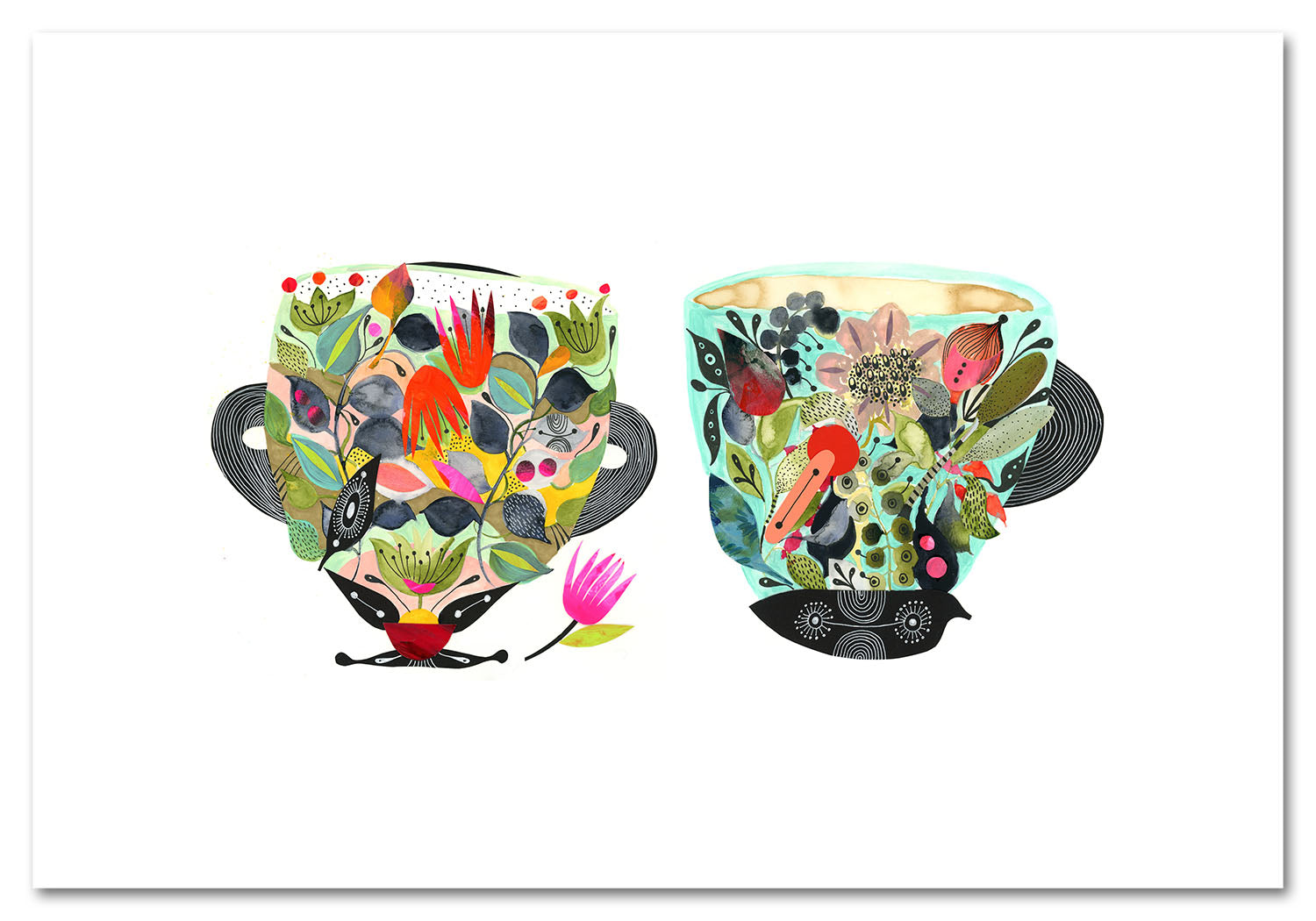 Tea Cups Art Print
