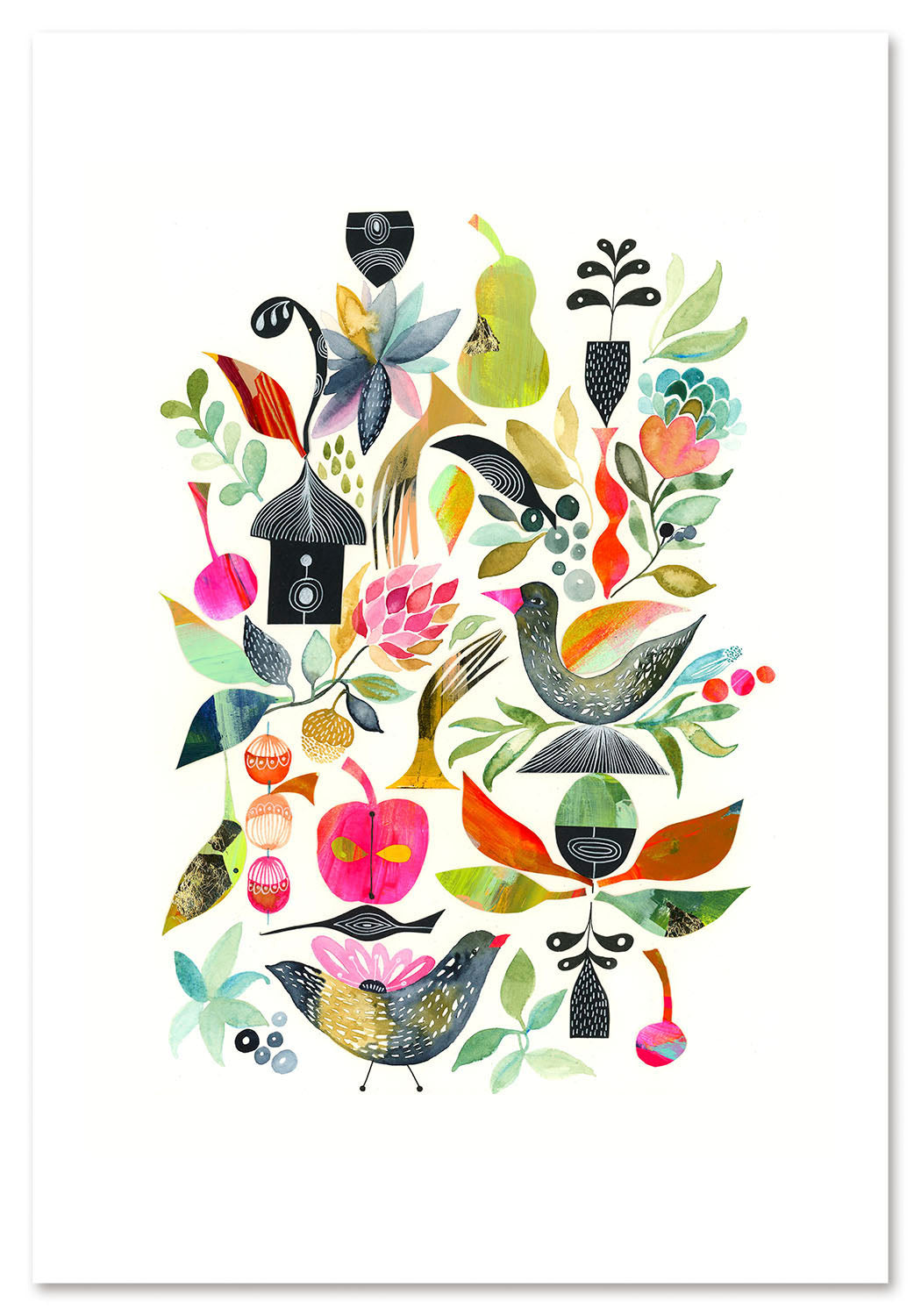 Birds in the Garden Art Print