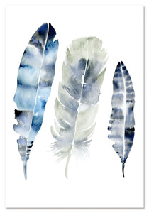 Blue Feathers Print