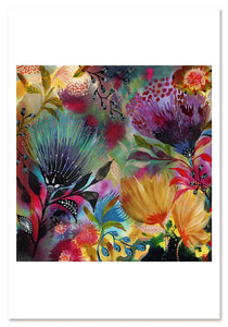 Impulse Flowers 1 Art Print