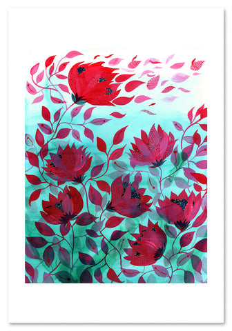 Petals in the Breeze Art Print