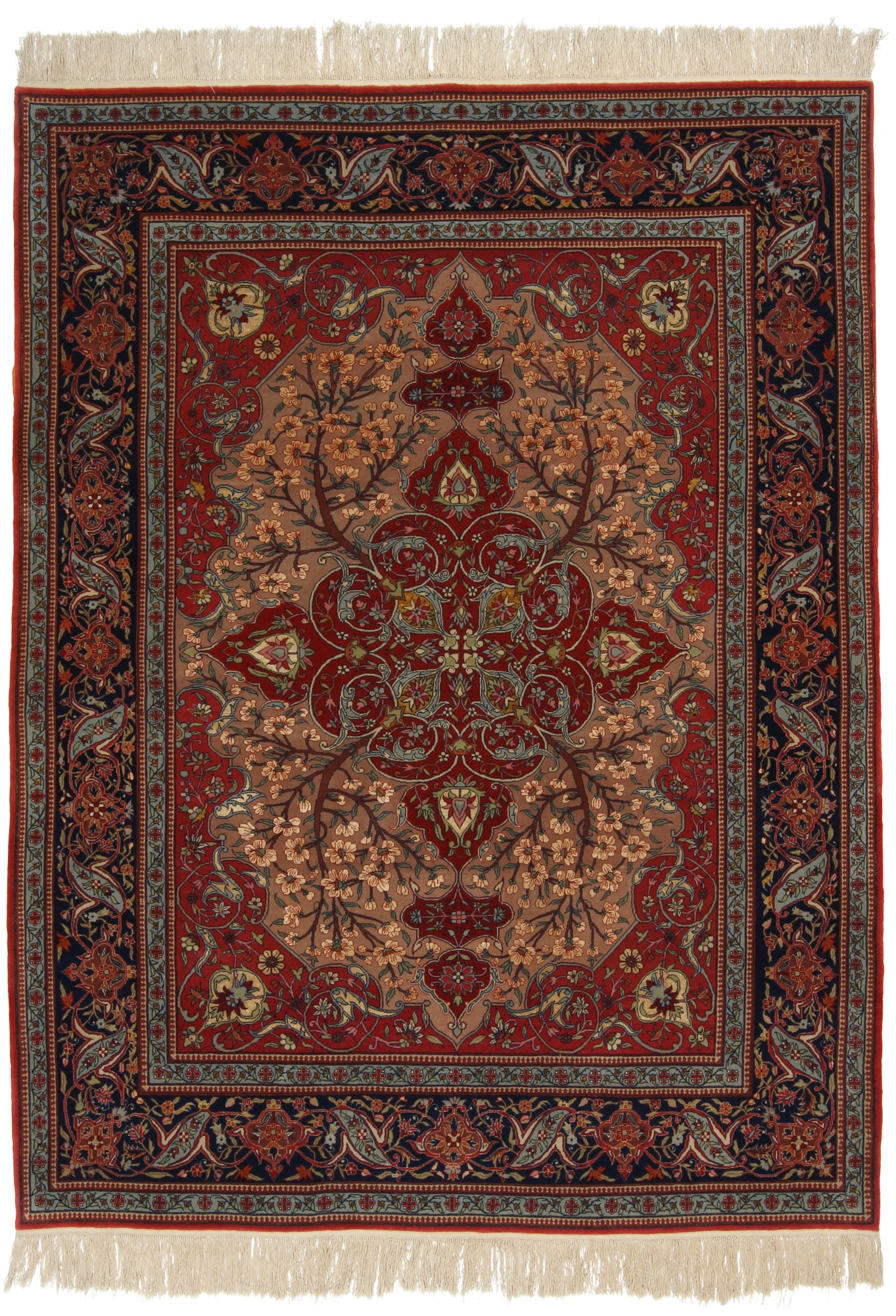 Sino-Persian Kashan Rug Extra-Fine