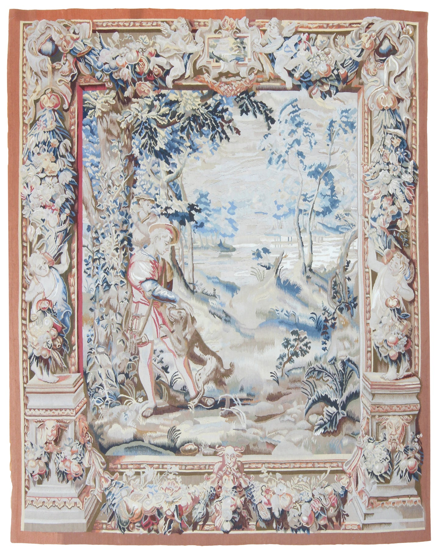 Awaiting The Chase Tapestry Reproduction