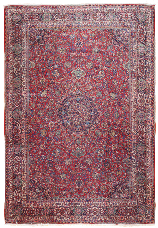Antique Oversize Kashan-Turco Persian Rug Company Inc.