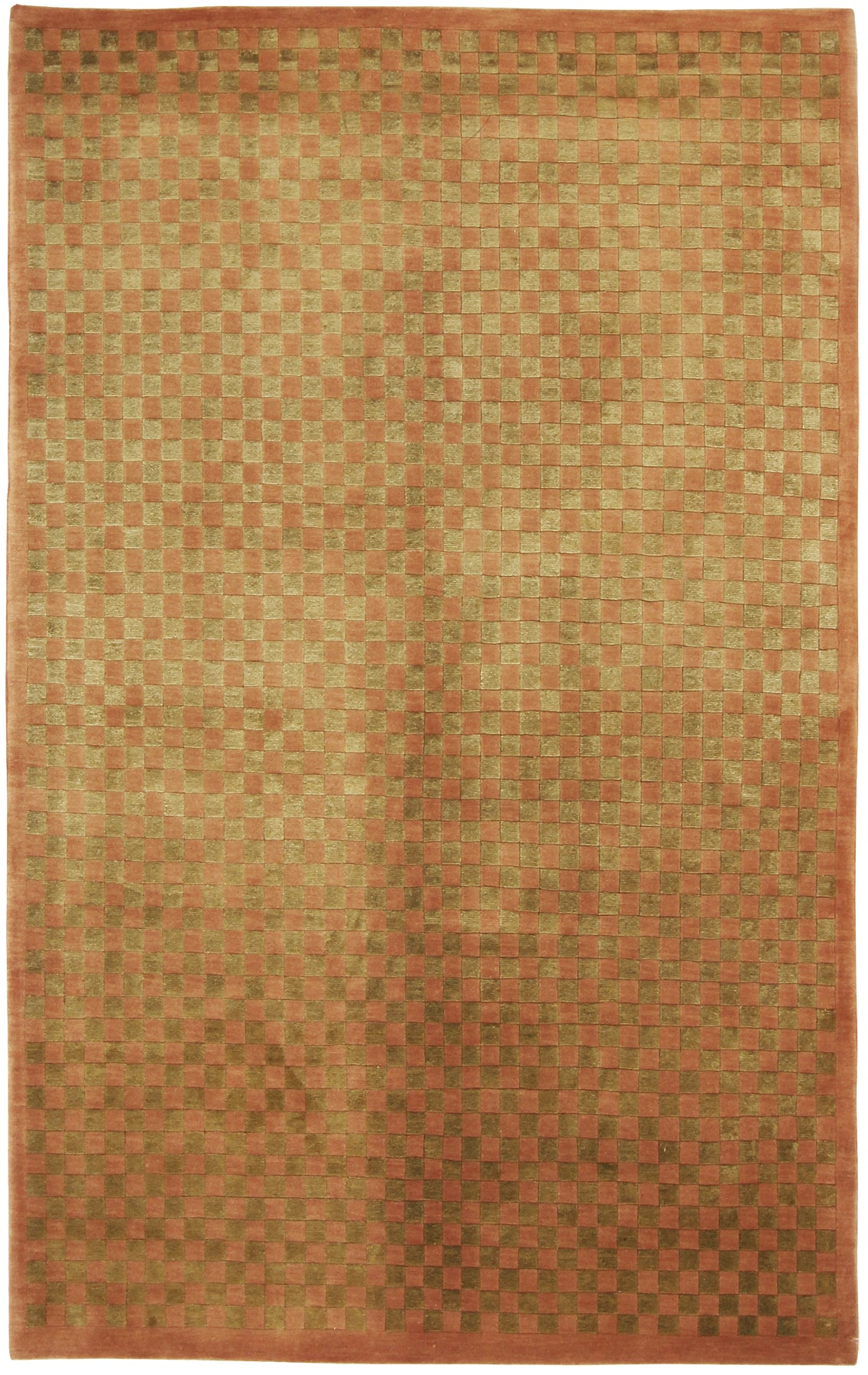 Checker Rug Wool & Silk-Turco Persian Rug Company Inc.
