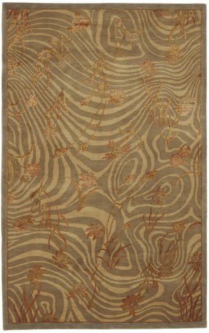 Modern Rug Waves and Flowers-Turco Persian Rug Company Inc.
