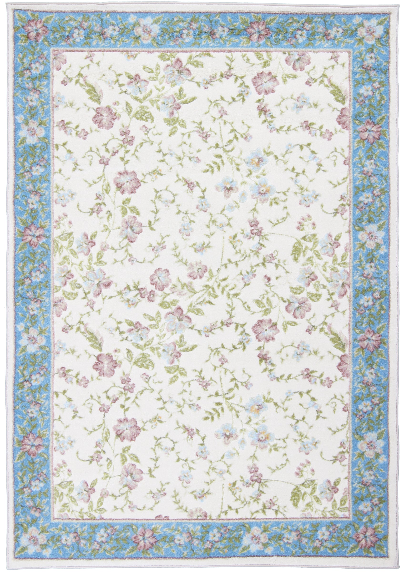 Flowers Machine Made Rug-Turco Persian Rug Company Inc.