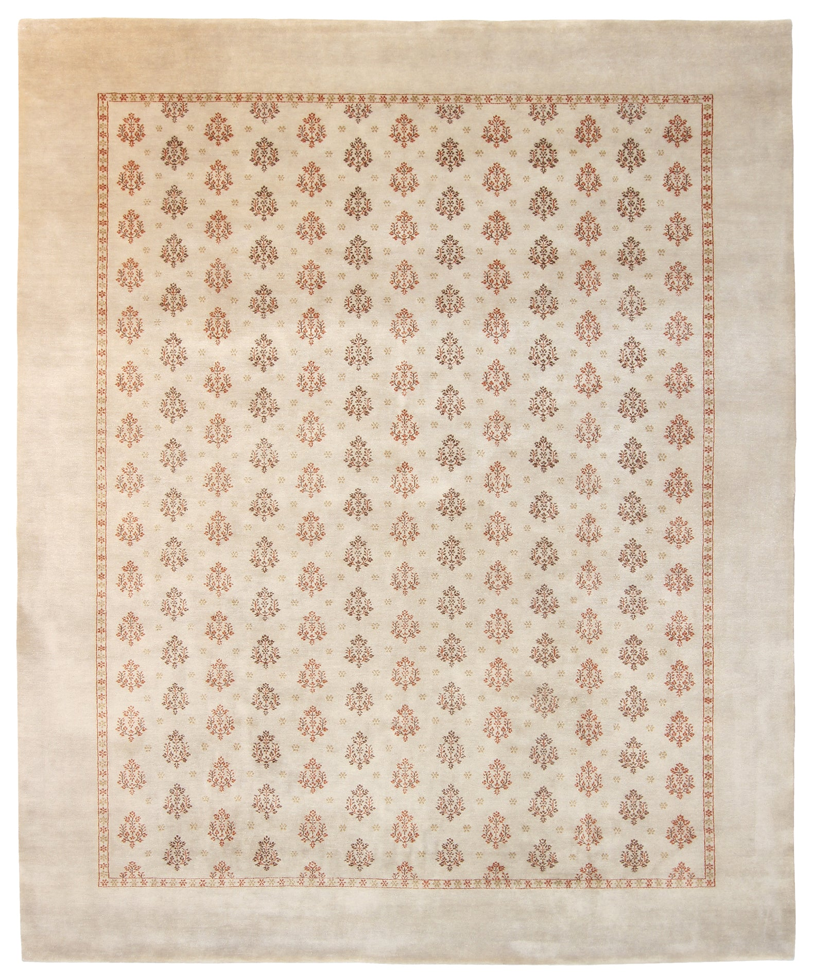 Repeating Floral Rug-Turco Persian Rug Company Inc.