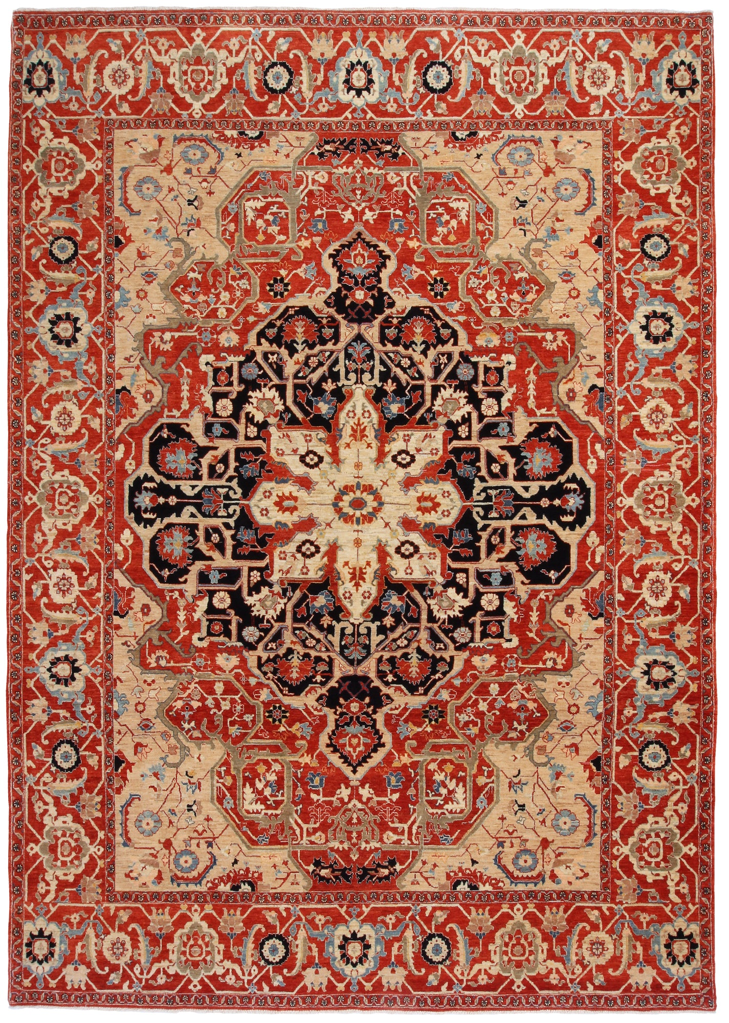 Heriz Design Rug India-Turco Persian Rug Company Inc.