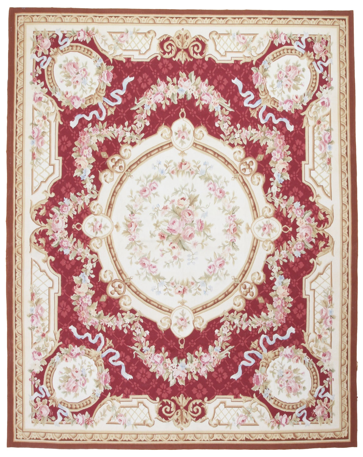 Aubusson Design Needlepoint Rug