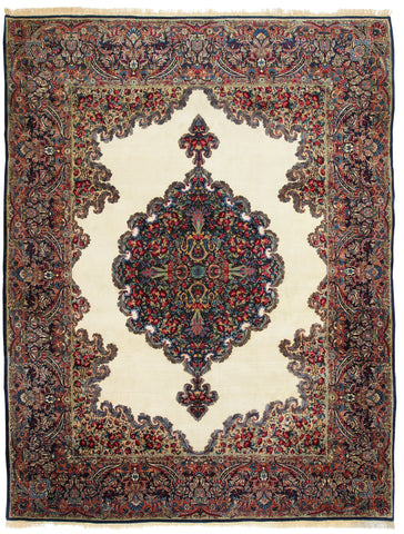 Kerman Rug Medallion-Turco Persian Rug Company Inc.