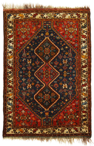 Antique Persian Qashqai Rug-Turco Persian Rug Company Inc.