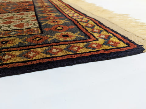 Antique Silk Beshir Prayer Rug