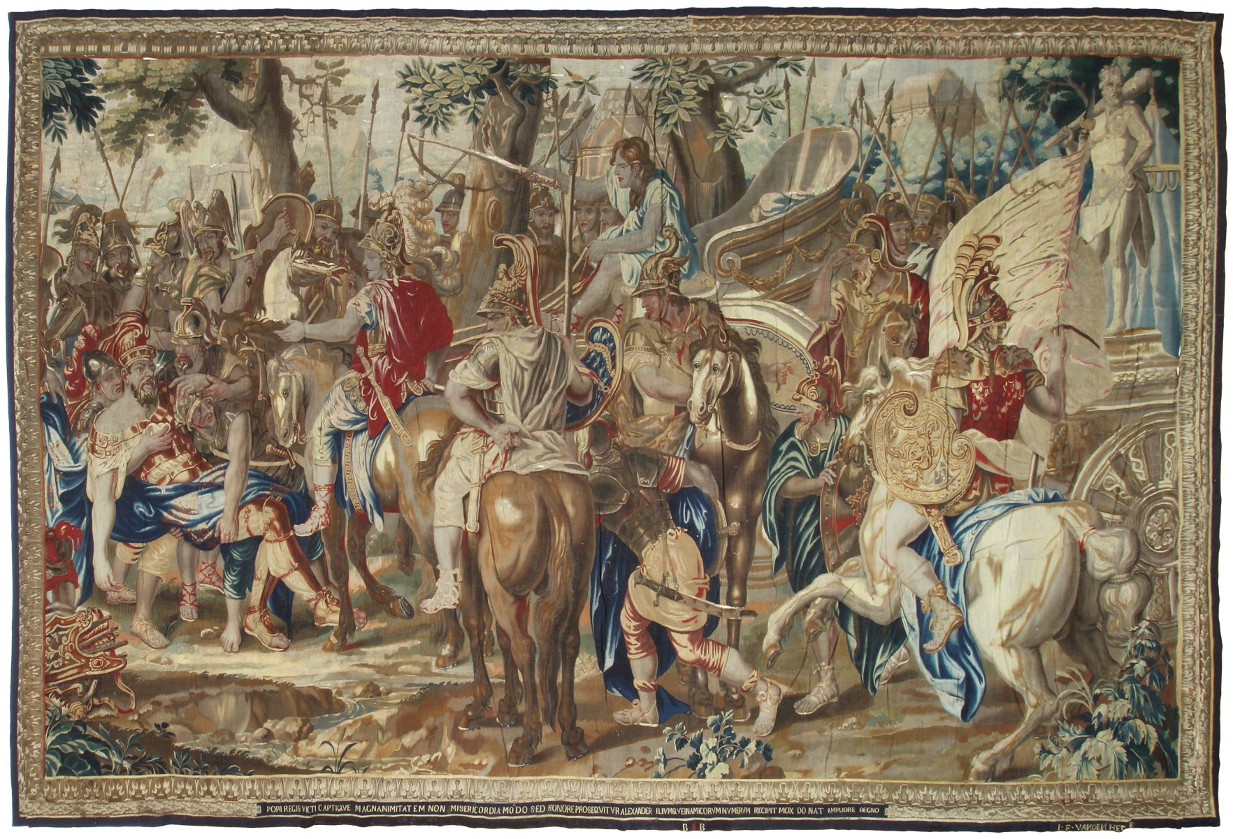 Rare Late 17th Century Brussels Historical Tapestry: Alexander and Porus-Turco Persian Rug Company Inc.