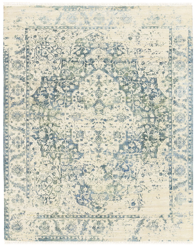 Dazzle Blue Grey 6x9-Turco Persian Rug Company Inc.