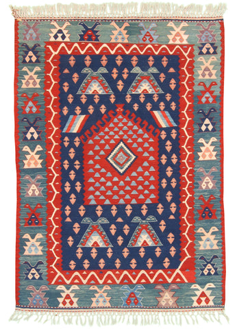 Directional Turkish Kilim-Turco Persian Rug Company Inc.