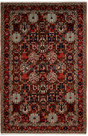 Bakhtiari Rug Panel Design-Turco Persian Rug Company Inc.