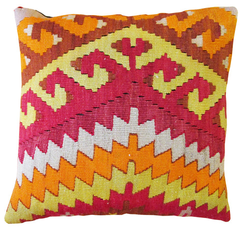 "Turkish Kilim Pillow 14""-Turco Persian Rug Company Inc."