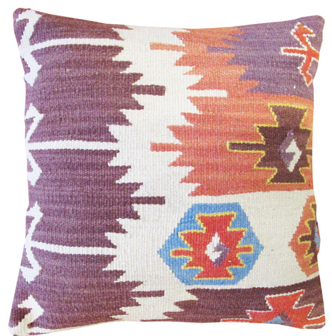 Turkish Kilim Pillow 14""