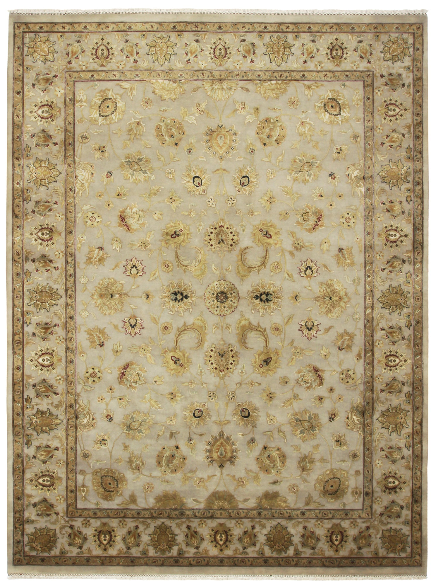 Tabriz Design Rug Wool & Silk