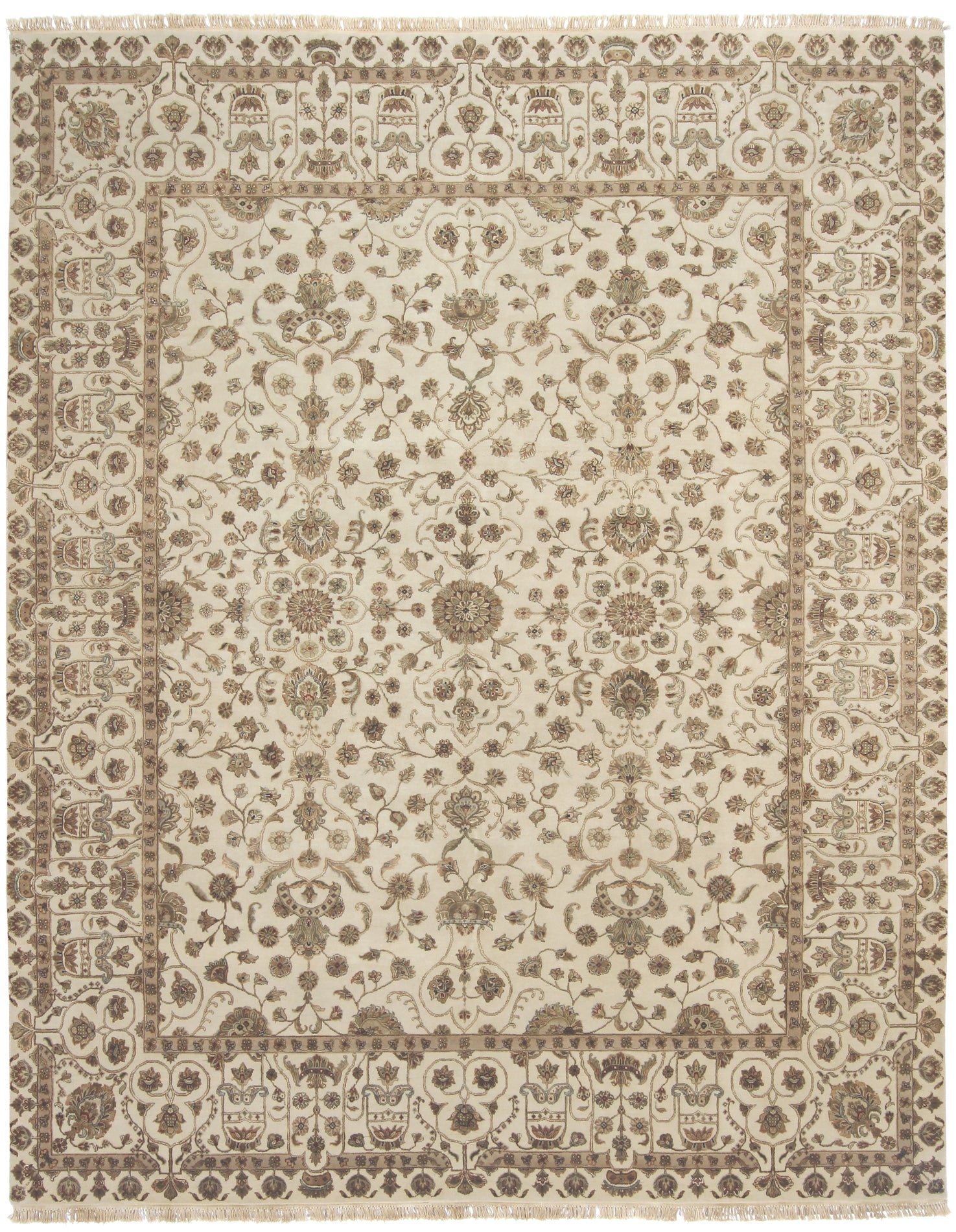 Tabriz Design Rug India Wool & Silk