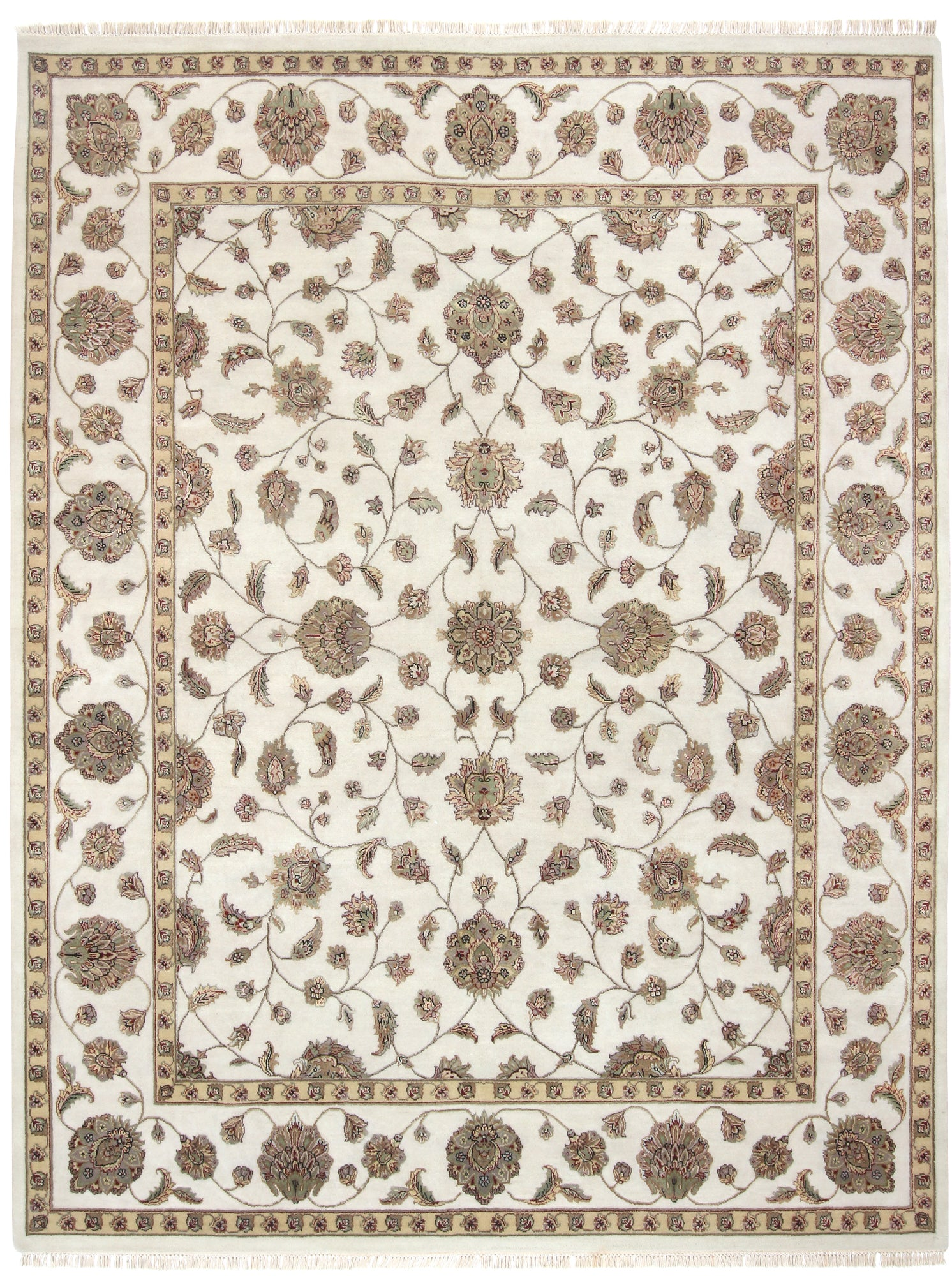 Tabriz Design Rug India Wool & Silk-Turco Persian Rug Company Inc.