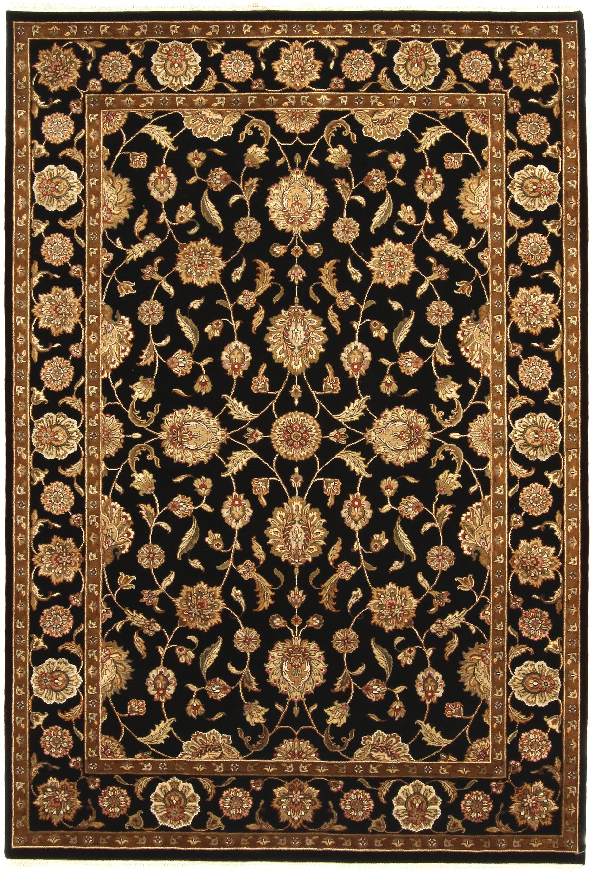 Indo-Persian Rug Black Gold