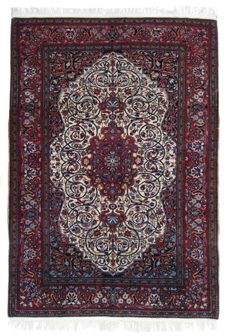 Antique Persian Isfahan Rug-Turco Persian Rug Company Inc.