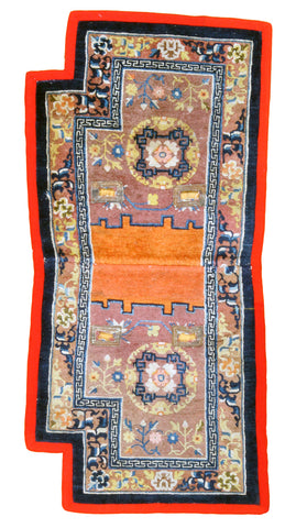 Chinese Saddlebag Antique-Turco Persian Rug Company Inc.