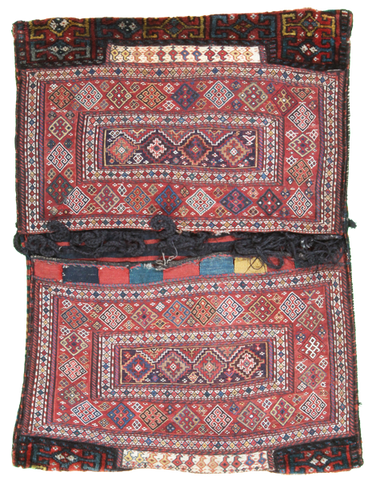 Antique Bakhtiari Saddlebag-Turco Persian Rug Company Inc.