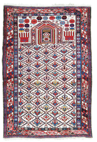 Dagestan Antique Prayer Rug-Turco Persian Rug Company Inc.