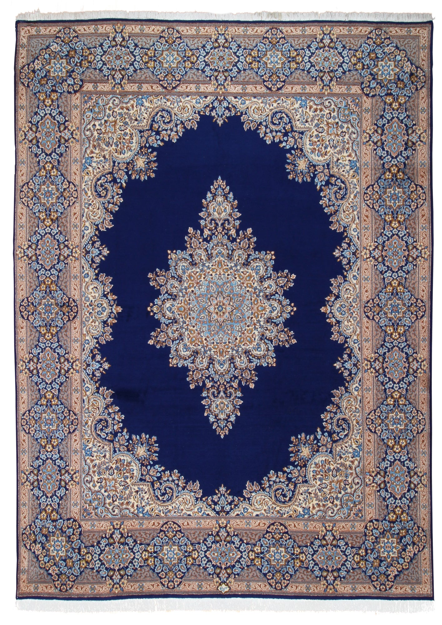 Kerman Medallion Blue-Turco Persian Rug Company Inc.