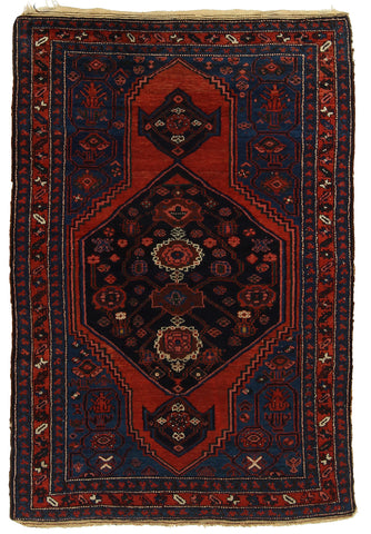 Hamadan Rug Semi-Antique
